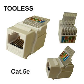 UTP Keystone bílý Cat.5e tooles - beznástrojový keystone