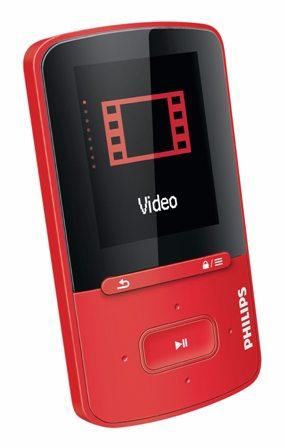Philips SA4VBE04RF/12 ViBE MP4 prehrávač s funkciou FullSound™