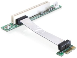Delock Riser card PCI Express x1 > PCI 32Bit 5 V, kabel 9cm
