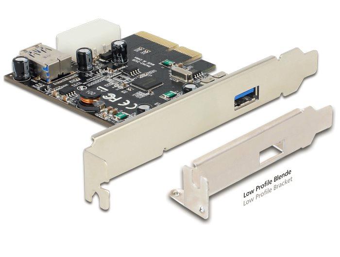 Delock PCI Express karta > 1 x externí + 1 x interní SuperSpeed USB 10 Gbps (USB 3.1, Gen 2) typ A samice