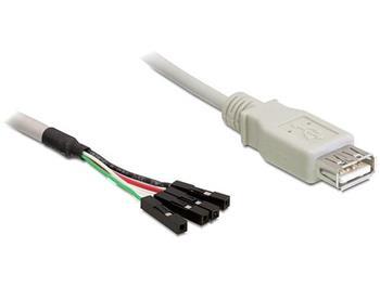 Delock kabel USB 2.0-A samice > pin konektor