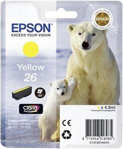 EPSON cartridge T2614 yellow (lední medvěd)