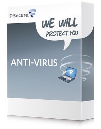 F-Secure Anti-Virus PC na 1 rok pro 1 uživatele, CZ - elektronicky