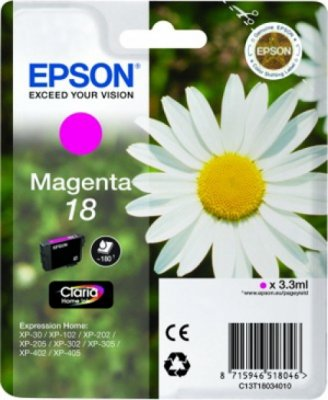 EPSON cartridge T1803 magenta (sedmikráska)