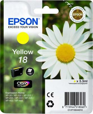 EPSON cartridge T1804 yellow (sedmikráska)