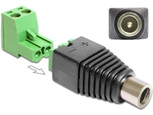 Delock Adaptér DC 2,1 x 5,5 mm samice > svorkovnice 2 piny 2-části