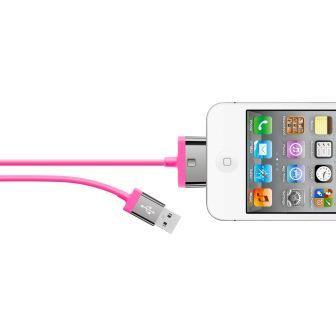 Belkin 30-pin kabel MIXIT pro Apple, 2m růžový
