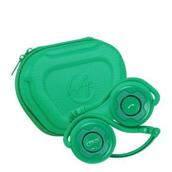 Arctic Sound P311 Bluetooth bezdrátová sluchátka s mikrofonem + pouzdro, zelená