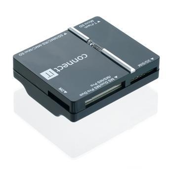 CONNECT IT USB čtečka karet + SIM, WAVE černá