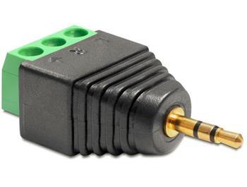 Delock Adaptér stereo jack 2,5 mm samec > svorkovnice 3 piny