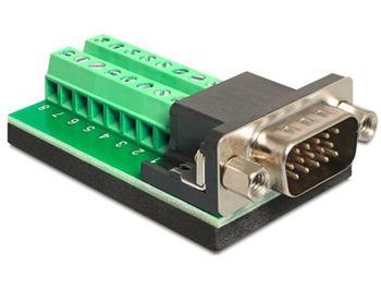 Delock Adaptér VGA samec > svorkovnice 16 pinů