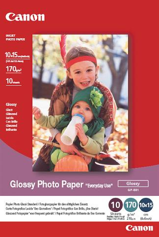 Canon fotopapír GP-501 - 10x15cm (4x6inch) - 10 listů - lesklý