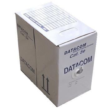 DATACOM UTP kabel drát, Cat.5e, box 305m, PVC - Outdoor (venkovní, -40 - +70)