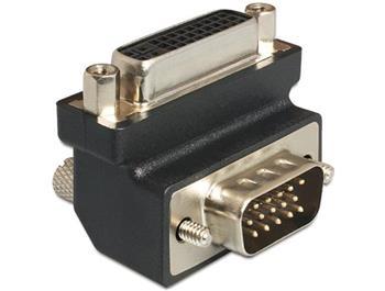 Delock Adaptér DVI 24+5 pin samice > VGA 15 pin samec 270°
