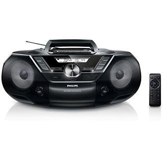 Philips AZ787/12 Prenosny zvukovy system s CD, USB a kazetovym prehravacom