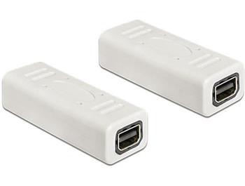Delock adaptér Displayport mini samice / samice, bílá