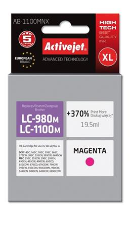 ActiveJet ink cartr. Brother LC-1100M - 15 ml - 100% NEW AB-1100MNX (AB-1100M)