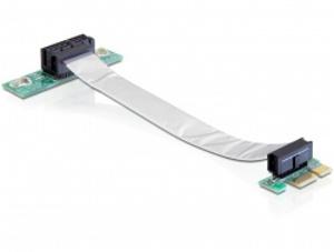 Delock Riser card PCI Express x1 s flexibilním kabelem,vkládání vlevo