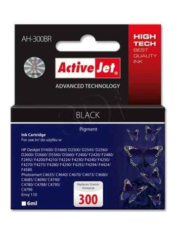 ActiveJet Ink cartridge HP CC640EE Premium 300 Black - 6 ml AH-300BR