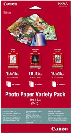 Canon fotopapír Photo Paper Variety Pack 10x15 (GP PP SG) po 5