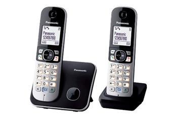 Panasonic KX-TG6812FXB, bezdrát. telefon, 2 sluchátka