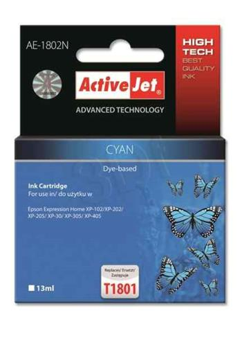 ActiveJet ink cartr. Eps T1802 Cyan 100% NEW - 13 ml AE-1802N