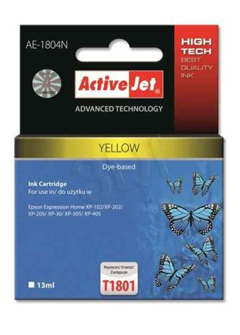 ActiveJet ink cartr. Eps T1804 Yellow 100% NEW - 13 ml AE-1804N