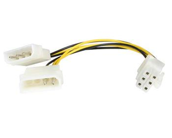 "Premiumcord Redukce napájecí 5.25"" Molex - 6 pin pro PCI-E grafické karty"