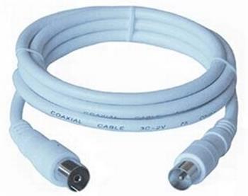 PremiumCord TV propojovací kabel M/F 75 Ohm 5m