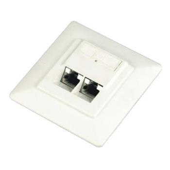 DATACOM Datová zásuvka STP CAT6 2xRJ45 pod omítku 45st. bílá