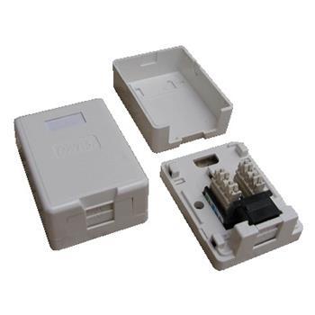 DATACOM Datová zásuvka UTP CAT6 1xRJ45 na omítku (protiprachová) bílá