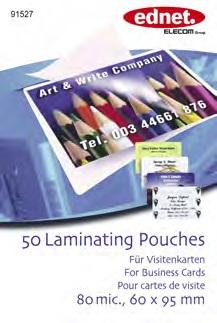 Ednet Laminovací folie vizitky 80 mic. (60x95mm) 50ks