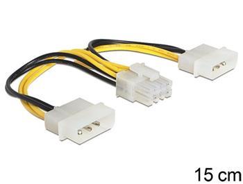 Delock napájecí kabel 8 Pin EPS > 2 x 4 Pin molex