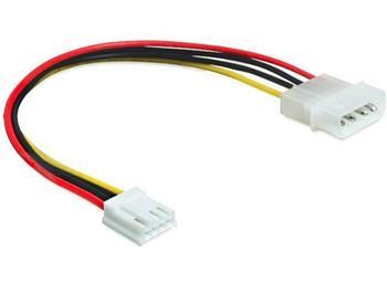 Delock napájecí kabel Molex 4 pin samec > 3.5 floppy samice