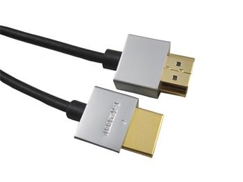 PremiumCord Slim HDMI High Speed + Ethernet kabel, zlacené konektory, 0,5m