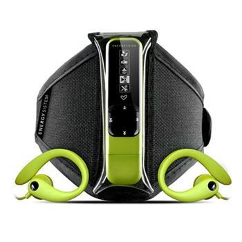 ENERGY Active 2 Neon Green 4GB, MP3 sportovní přehrávač, FM, USB, sluchátka, sportovní pouzdro na ruku
