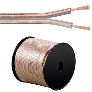 PremiumCord Kabely na propojení reprosoustav 100% CU měď 2x2,5mm 1m - délka na přání