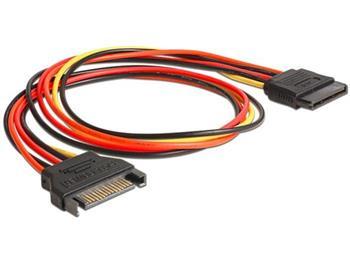 Delock napájecí kabel SATA 15 Pin samec > SATA 15 Pin samice prodlužující 50 cm