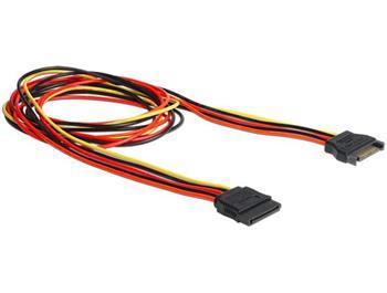 Delock napájecí kabel SATA 15 Pin samec > SATA 15 Pin samice prodlužující 100 cm