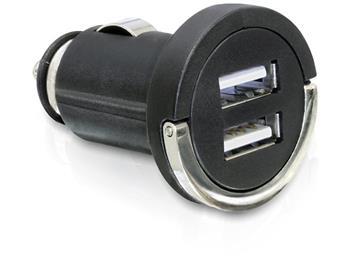 DeLock Car power adapter 12-24 V to 2x USB DC 5V 2100 mA