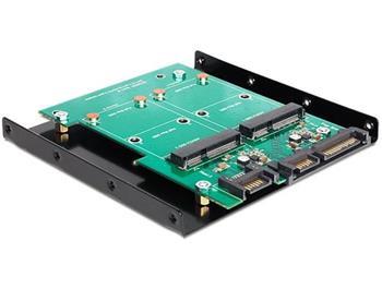 Delock adaptér SATA 22 pin + 7 Pin > 2 x mSATA s 3,5