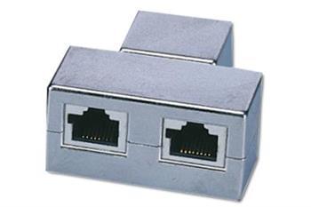 Digitus CAT 5e Modular Coupler, shielded, 2x RJ45 to 1x RJ45, Threefold Coupler Threefold Coupler