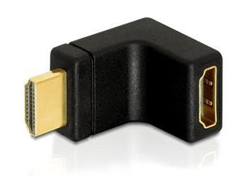 Delock adaptér HDMI A samec/samice,pravoúhlý 90° nahoru