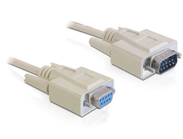 Delock sériový kable RS-232, Sub-D9 samec/samice 3 m