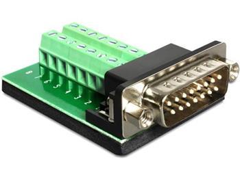 Delock Adaptér Sub-D 15 pinů Gameport samec > svorkovnice 16 pinů