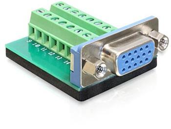 Delock Adaptér VGA samice > svorkovnice 16 pinů