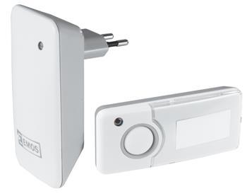 Emos domovní bezdrátový zvonek P5710G, sada 1 tlačítko + 1 zvonek, šedá