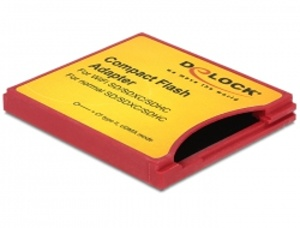 Delock Compact Flash adaptér pro iSDIO (WiFi SD), SDHC, SDXC paměťové karty