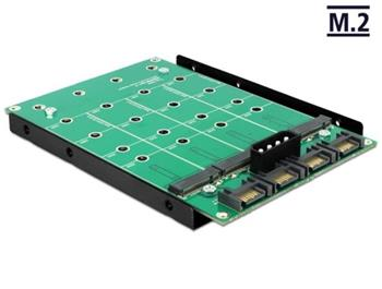 "Delock 3.5"" Konvertor 4 x SATA 7 Pin > 4 x M.2 NGFF"