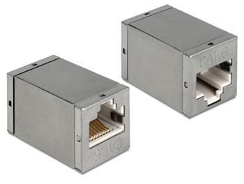 Delock adaptér RJ45 samice / samice CAT6 Compact UTP - kovové pouzdro